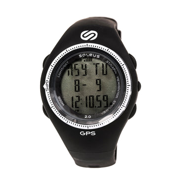 Soleus SG002-004 Men's GPS 2.0 Runners Speed Black Rubber Strap Digital
