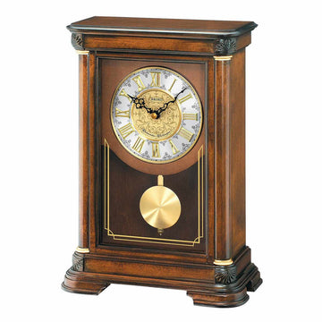 Seiko Mantel Clock - Wesley Brown Alder Wood Antique Style | QXQ008BLH