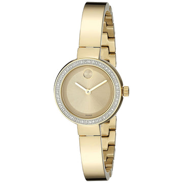 Movado 3600322 Women's Bold Gold Dial Yellow Steel Diamond Watch