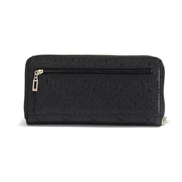 Guess SG480946BLA Zip-Around Black Faux Leather Women's Juliet Wristlet Wallet
