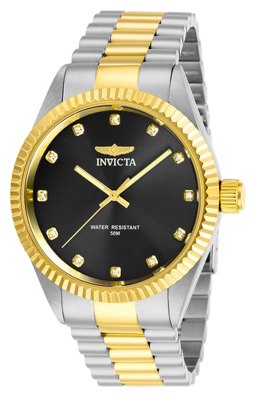 Invicta Men's Quartz Watch - Specialty Black Dial Two Tone Bracelet | 29503