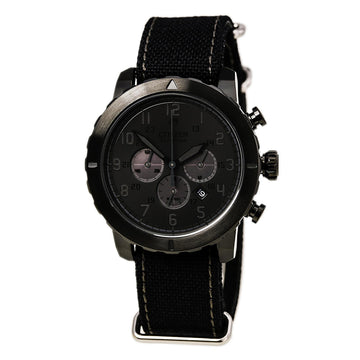 Citizen CA4098-06E Men's Chrono Eco Drive Military Black Dial Nylon Strap Watch