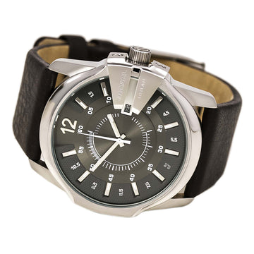 Diesel DZ1206 Men's Oversized Grey Dial Brown Leather Strap Quartz Watch