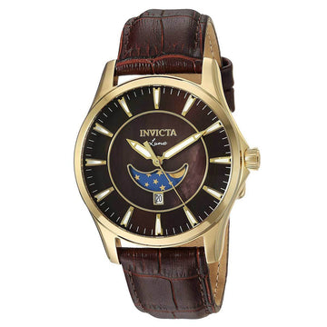 Invicta Men's Moon Phase Watch - Vintage Brown MOP & Brown Dial | 23129