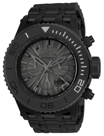 Invicta 23939 Men's Subaqua Black Dial Chronograph Black IP Steel Bracelet Dive Watch