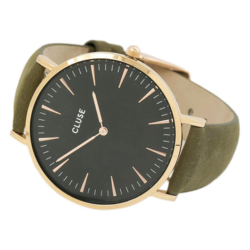Cluse CL18024 Women's Olive Green Band Quartz Black Watch
