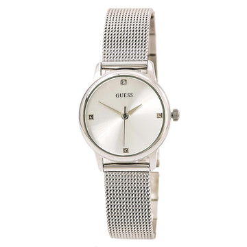 Guess U0532L1 Women's Steel Mesh Bracelet Quartz Diamond Silver Dial Watch