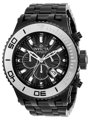 Invicta 23940 Men's Subaqua Black Dial Black IP Steel Bracelet Chronograph Dive Watch