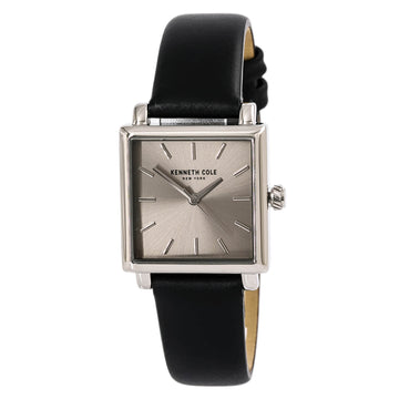 Kenneth Cole 10030821 Grey Dial Women's Leather Strap Watch