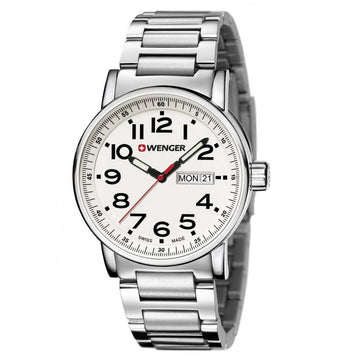 Wenger 01.0341.102 Men's Attitude Swiss Made Quartz Steel Bracelet Watch