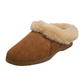 Acorn Women's Slipper - Shearling Ewe Collar Sheepskin Walnut | A10879