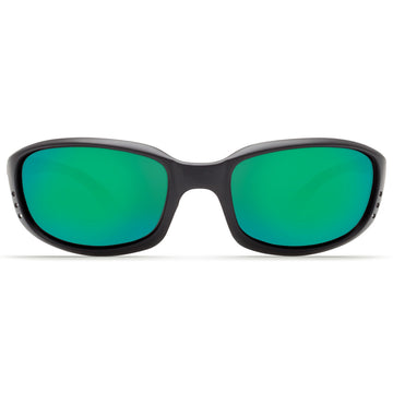 Costa Del Mar BR11OGMP Men's Brine Polarized Plastic 580P Green Mirror Lens Matte Black Frame Sunglasses