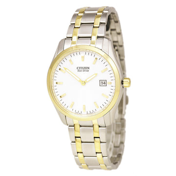 Citizen Men's Two Tone Watch - Dress Eco-Drive White Dial | AU1044-58A