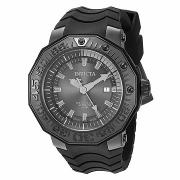 Invicta 23032 Men's Pro Diver Reserve Black Dial Black Silicone Strap Automatic Dive Watch