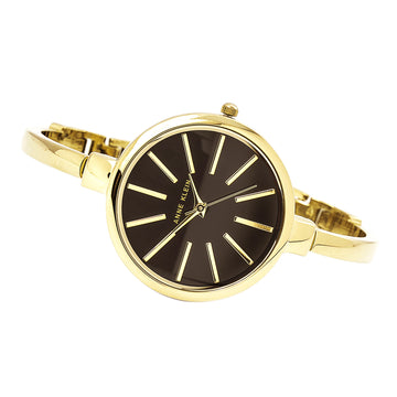 Anne Klein 1470GBST Women's Quartz Yellow Bangle Bracelet Watch