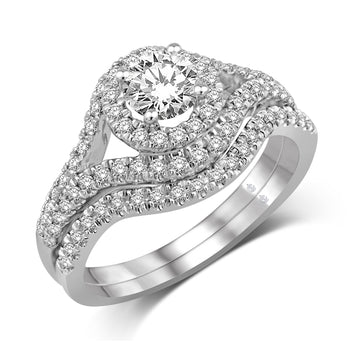 14K White Gold 1 Ct.Tw. Diamond Fashion Bridal