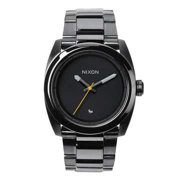 Nixon A507131 Men's Kingpin Gunmetal IP Stainless Steel Bracelet Gunmetal Dial Diamond Watch