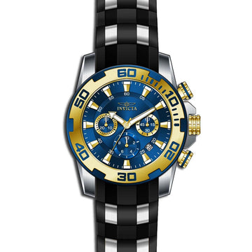 Invicta Men's Chronograph Watch - Pro Diver Steel & Silicone Strap Blue Dial | 22339