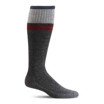 Sockwell Men's Knee High Socks - Sportster Graduated Compression, Charcoal | SW19M