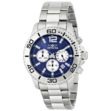 Invicta Men's Chronograph Stainless Steel Watch - Pro Diver Blue Dial | 17397