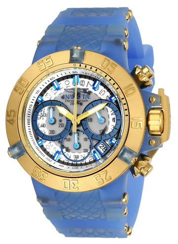 Invicta 24377 Women's Subaqua Noma III Chrono Transparent Dial Silicone & Plastic Strap Dive Watch