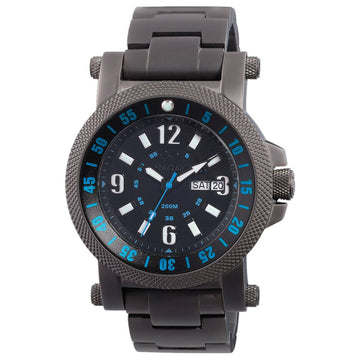 Reactor 56518 Men's Fallout 2 DNA Black Dial Black Nitride Steel Bracelet Dive Watch