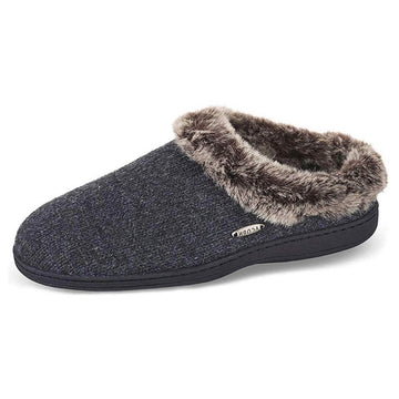 Acorn Women's Slipper - Chinchilla Ragg Clog Dark Charcoal Heather | A17101