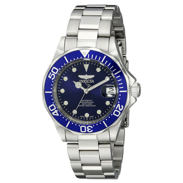 Invicta 17040 Men's Steel Bracelet Automatic Pro Diver Blue Dial Date Watch