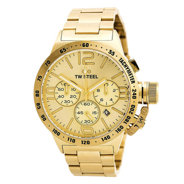 TW Steel CB103 Men's Canteen Bracelet Yellow Gold Steel Chronograph Watch