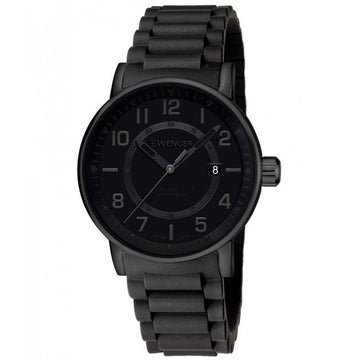 Wenger 01.0341.112 Men's Attitude Outdoor Black Silicone Strap Swiss