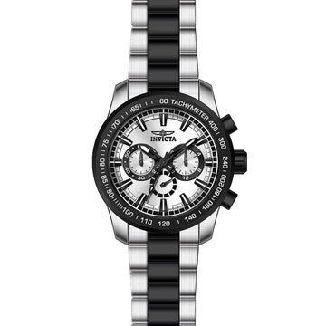 Invicta 21799 Men's Speedway Silver Dial Two Tone Steel Bracelet Chrono Watch