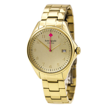 Kate Spade 1YRU0030 Women's Yellow Steel Bracelet Seaport Gold Tone Watch