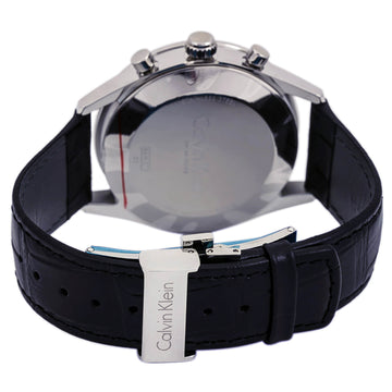 Calvin Klein K4M271C3 Mens Formality Chrono Black Band Watch
