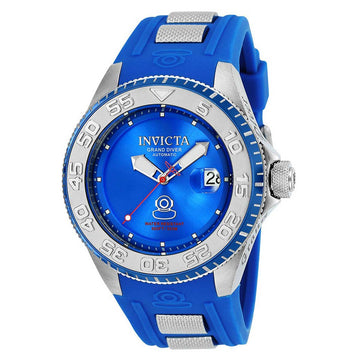 Invicta 25254 Men's Grand Diver Blue Dial Steel & Blue Silicone Strap Automatic Dive Watch