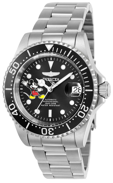 Invicta 24753 Men's Disney Automatic Black Dial Steel Watch