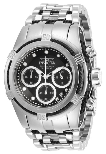 Invicta Women's Chrono Watch - Bolt Zeus Black & Silver Tone Dial Bracelet | 27856