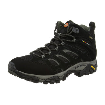 Merrell J584597 Men's Moab Mid Gore-Tex Black Leather & Fabric Hiking Boot