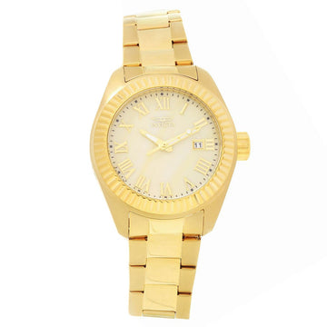 Invicta Women's Yellow Gold Steel Watch - Angel Gold Tone Dial Bracelet | 20316