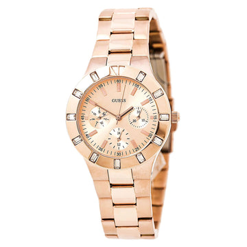 Guess U13013L1 Women's Rose Gold Steel Quartz High-Shine Rose Gold Dial Day-Date Watch