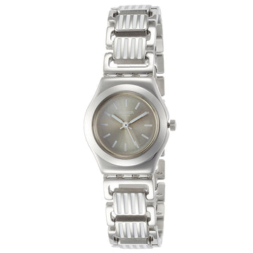Swatch YSS304G Women's A Traveler's Dream Persienne Grey Dial Stainless Steel Bracelet Watch