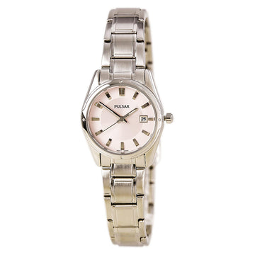 Pulsar PXT809 Women's Functional Stainless Steel Bracelet Pink Dial Quartz Watch