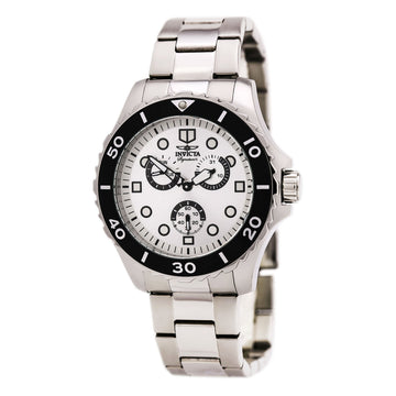 Invicta Men's Stainless Steel Watch - Signature II Quartz Silver Dial Day-Date | 7051