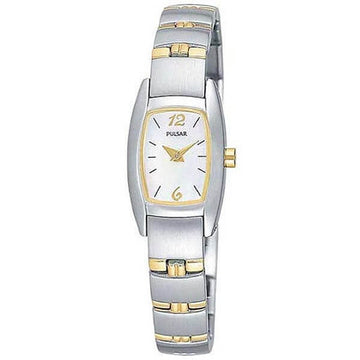 Pulsar PJ5107 Women's Dress Sport White Dial Two Tone Quartz Watch