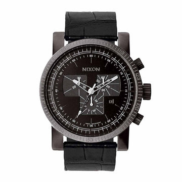Nixon Men's Black Strap Watch - Magnacon Leather II Black Dial Swiss | A4581886