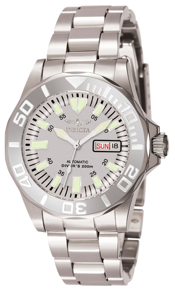 Invicta Men's Automatic Stainless Steel Watch - Signature Silver Dial | 7048