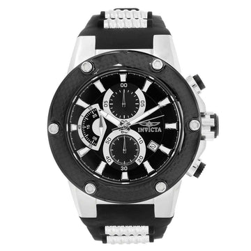 Invicta 22400 Men's Speedway Black Dial Steel & Silicone Strap Chronograph Watch