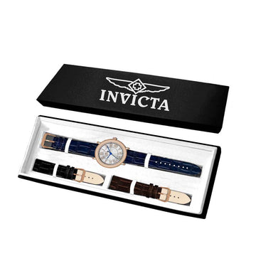 Invicta 14859 Men's Silver Dial Rose Gold Plated Interchangeable Strap Watch