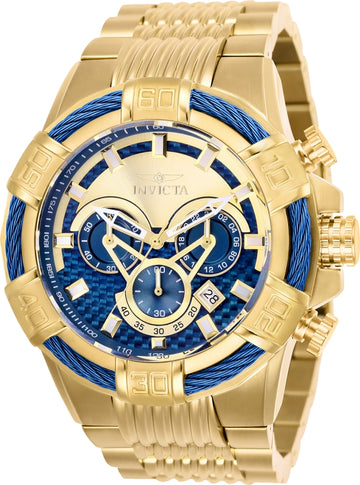 Invicta 25542 Men's Bolt Blue & Gold Dial Chronograph Watch