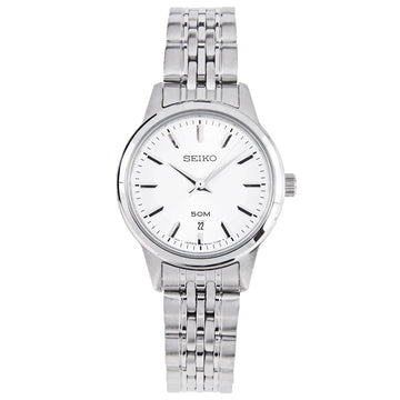 Seiko SUR899 Women's Stainless Steel Bracelet Silver Tone Dial Quartz Watch