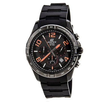 Casio Men's Chronograph Watch - Edifice Black Dial Resin Strap | EFR516PB-1A4